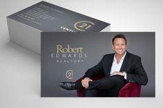 simple slate grey century 21 business card Realtor Business Cards, Order Business Cards, Luxury Business Cards, Real Estate Business Cards, Real Estate Branding, Real Estate Marketing, Business Card Design, Creative Business, Corporate Design