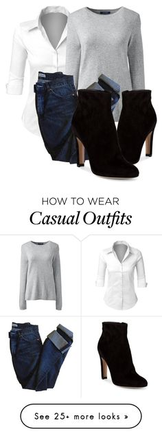 """""""Casual"""" by dont-say-goodnight on Polyvore featuring LE3NO, Lands' End, Acne Studios and Gianvito Rossi"""