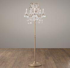 Diy floor lamp chandelier floor lamp by leticia diy home manor court crystal 5 arm floor lamp aged gold aloadofball Gallery