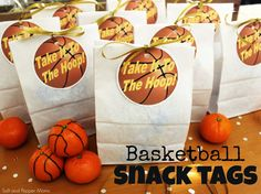 Basketball Snack Tags. Printable!