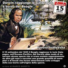 15 settembre 1835: Darwin raggiunge le isole Galapagos a bordo del Beagle  Immaginate di dare il nome di una razza canina ad un brigantino. I brigantini sono anzi erano piccoli velieri che solcavano i mari agli inizi dellOttocento. Erano spesso usati come navi cargo o come appoggio di imbarcazioni più imponenti. Il brigantino battezzato Beagle prese servizio in Gran Bretagna nel 1820 e fu usato una sola volta come nave da parata per lincoronazione di re Giorgio IV prima di essere destinato a…
