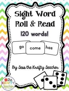 Make Sight Word practice Fun!Fun practice of 120 sight words!!! Students roll the dice, then read a word from that list. After reading it they color in the box and keep going until one row wins! This would make a great word work or center activity or a gr
