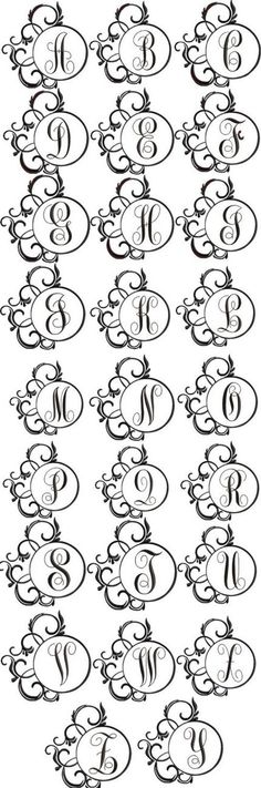 Scrolly Fancy Font Frame for Machine Embroidery by Embroitique, $9.99