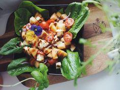 Leipäjuustosalaatti 2.0 Cantaloupe, Fruit, Food, Essen, Meals, Yemek, Eten