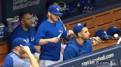 Donaldson poured a bunch of seeds in the hood of Marco Estrada's jacket. Josh Donaldson, Tampa Bay Rays, American League, Sports Baseball, Toronto Blue Jays, Go Blue, Chicago Cubs, Girls Best Friend, Bowling