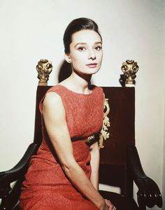 Audrey Hepburn Style Icon - red dress