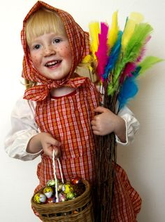 Swedish easter witch holiday pinterest witches easter and happy easter little girl dressed up as a swedish easter witch glad psk negle Image collections