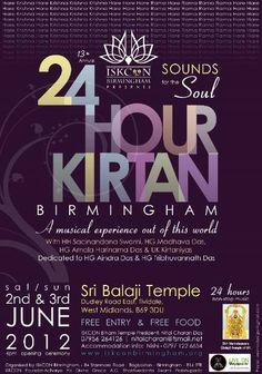 Dandavats | 13th Annual Birmingham 24 Hour Kirtan Festival 2012