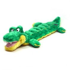 Outward Hound Squeaker Matz Dog Squeaky Toy Multi-Squeaker Toy for Dogs, Long Body 16 Squeaker, Gator