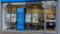 Floor standing banner and poster display systems for property marketing in London shop window Photo Displays, Window Displays, Portable Display, Display Banners, Poster Display, Exhibition Display, Banner Printing, Shop Signs, Office Interiors