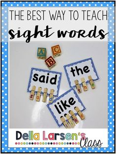 The best way to teach sight words.Teaching kids to read is the core of any kindergarten curriculum. It's a privilege to have a front row seat to the wonder of going from not knowing any letters in September to actually reading in June. It's one of the thi Kindergarten Lesson Plans, Kindergarten Centers, Teaching Kindergarten, Teaching Reading, Guided Reading, Reading Wonders Kindergarten, Learn To Read Kindergarten, Preschool, Kindergarten Sight Word Games