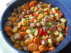 Gnocchi-Gemüse-Pfanne mit Mettbällchen 3