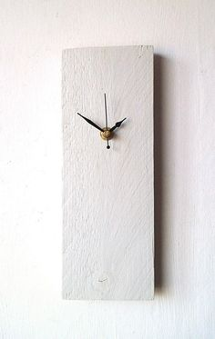 Wood Clock - White Recycled Reclaimed Pallet Wood Wall Clock - Natural Wood Clock - Upcycled Rustic Clock by NaturalClocks on Etsy https://www.etsy.com/listing/264153155/wood-clock-white-recycled-reclaimed