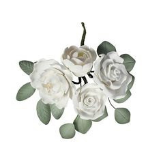Gumpaste Ivory Rose Spray This beautiful gumpaste ivory rose spray is perfet for adding to any celebration cake, ideal for a wedding or anniversay cake. Cake Decorating Supplies, Gum Paste, Celebration Cakes, Ivory, Flowers, Plants, Wedding, Beautiful, Marriage Anniversary