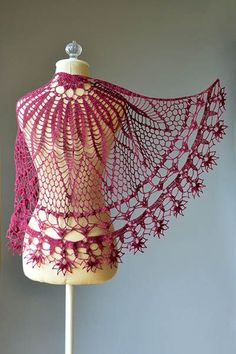 """This spectacular crochet scarf is called """"Corona"""" What do you mean crown. Just look at this model to be fascinated of this precious appearance. Full article is below. More free crochet patterns? join our facebook group Like our"""
