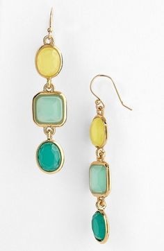 kate spade new york 'coated confetti' linear earrings