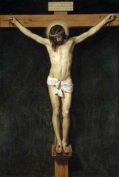 Christ Crucified is a 1632 painting by Diego Velázquez depicting the Crucifixion of Jesus. The work, painted in oil on canvas, measures 249 × 170 cm and is owned by the Museo del Prado. Religious Paintings, Religious Art, Catholic Art, Catholic Daily, Catholic Answers, Catholic Gifts, Caravaggio, Pontius Pilatus, Jesus Christ