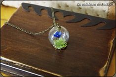 Flower dome necklace by on DeviantArt Wiccan Art, Blue Crafts, Deviantart, Glass Domes, Flower Necklace, Glass Jewelry, Blue Flowers, Creative Art, Handmade Jewelry