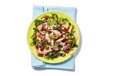 Chorizo & Chicken Taco Salad with Chipotle Dressing. Chipotle Dressing, Salad Recipes, Snack Recipes, Chicken Sausage, Foods With Gluten, Rotisserie Chicken, Tex Mex, Chorizo, Tacos