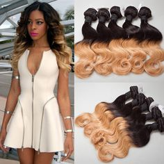 I'm in love with this 1b 27 Brazilian ombré hair!!
