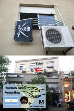 [Occupied] Buenos Ires, Argentina by Cap'n Pablo Rojas @talupablo     Right opposite side over globe. from seoul, korea 20,000km (Like it?)     Get up Stnad up, and Make your own flag    Make your own Flag, visit  http://thepirateflag.tumblr.com