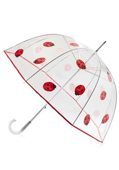 Ladybug Out Umbrella, #ModCloth -  So getting this for my sister in law.  She will love it. ^_^