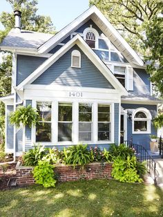 Personal Touches - The House of Easy to Imitate Ideas on HGTV. Love the way the planter box is done. So very full and overflowing with ferns, etc.