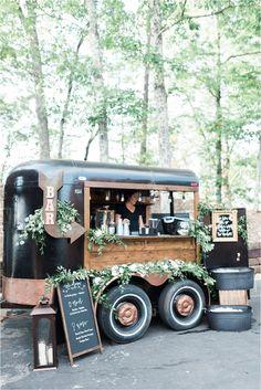 Coffee Carts, Coffee Truck, Mobile Bar, Mobile Shop, Mobile Coffee Shop, Bar A Vin, Deco Restaurant, Smoky Mountain Wedding, Caravan Makeover
