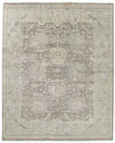 "looking for a traditional rug.  antique/vintage Oushak"" ..overdye rug"