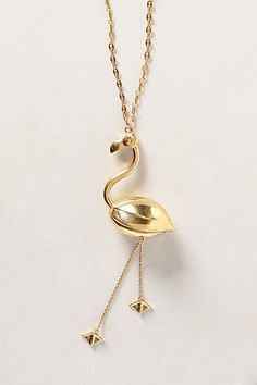 Gold Flamingo Pendant / LOVE