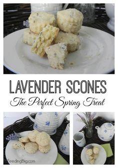 Lavender Scone Recipe - The perfect springtime treat.  #SundaySupper
