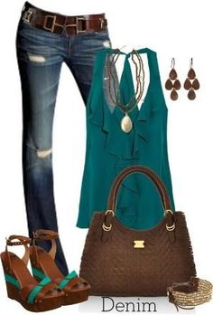 Lovin this color combo for fall this year! LOLO Moda: Stylish Women Fashion 2013 I must find this outfit! Mode Outfits, Casual Outfits, Fashion Outfits, Womens Fashion, Fashion Ideas, Casual Jeans, Casual Chic, Dress Casual, Boho Chic