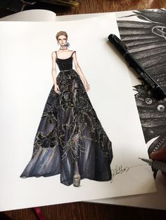 New Fashion Sketches Kleider Illustrationen Elie Saab Ideas - New Sites Fashion Week, Fashion Art, Fashion Models, Fashion Collage, Fashion Spring, Fashion Online, Fashion Design Drawings, Fashion Sketches, Drawing Fashion