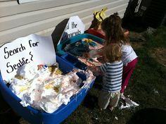 Messy Sensory Playgroup! lots of ideas on this post, like shaving cream and cooked spaghetti noodles, Jello and Goop!
