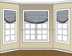 bay window curtains and blinds | Bay Window Treatments | Professional Design Source