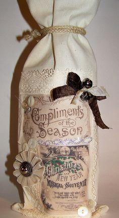 Collage Christmas Wine Bag