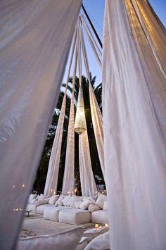 exotic evening recepton tent wedding