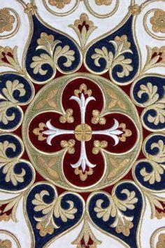 Wood Patterns, Textures Patterns, Arabesque, Altar Cloth, Decorative Borders, Illuminated Manuscript, Medieval Manuscript, Gold Embroidery, Catholic Art