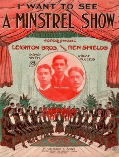 Black minstrel people show