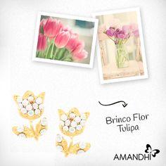 Aposte no brinco em forma de flor para dar um toque fofo ao look! | Amandhí | www.amandhi.com |