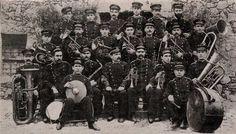 Foto de la Banda de música de Villanueva de Córdoba tomada en el año 1909.