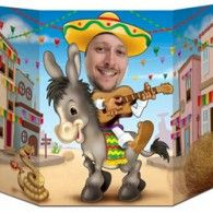 Hop on your burro and strum your way into town in this colorful Fiesta Photo Prop. A photo prop is a fun and creative activity at any party. And this fiesta photo prop is perfect for your Southwest, Cinco de Mayo, or Fiesta themed party. Mexican Fiesta Party, Fiesta Theme Party, Party Themes, Party Ideas, Theme Parties, Luau Party, Event Ideas, Theme Ideas, Event Decor