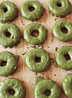 Matcha Green Tea Donuts are the best recipe to get on the match trend. Such an easy glaze to make too.