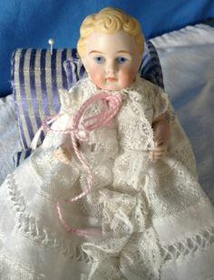 """Adorable 5 1/2"""" Antique All-Bisque Kestner Baby!"""
