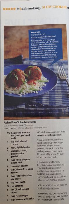 Asian five-spice meatballs