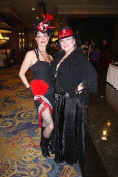 Steampunk party girls - at Steamathon 2015- Doc Phineas' World Steampunk Convention in Las Vegas at the Main Street Station Hotel and Casino #steamathon