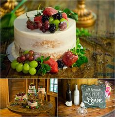Wedding cakes with berries!