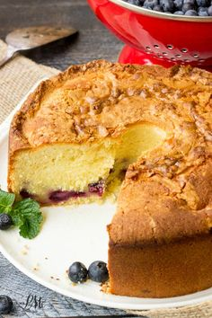 Fresh Blueberry Pound Cake Recipe, luscious and creamy, this homemade pound cake recipe is chock full of fresh blueberries.