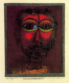 Head of a Famous Robber-Paul Klee-1921 http://www.mannyyoung.co.uk/
