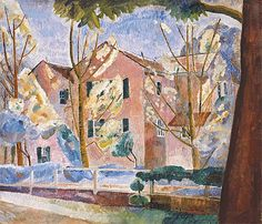 House with trees, 1935 - Grace Cossington Smith